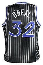 Magic Shaquille O'Neal Authentic Signed Black Jersey Autographed BAS Witnessed