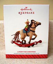 2014 Hallmark Ornament A Pony For Christmas 17th in Series NIB
