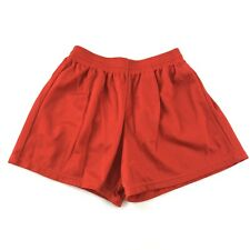 Vintage 90s Soffe Shorts Adult Small Red Nylon Jersey Track Shorts