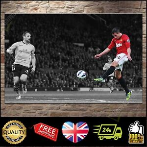 Robin van Persie MAN UTD Manchester United 'Box' | Canvas Print Photo | 5 sizes