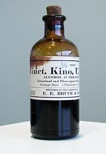 Antique/VTG Drug Store Pharmacy Apothecary Medicine Bottle TINCTURE KINO RX144