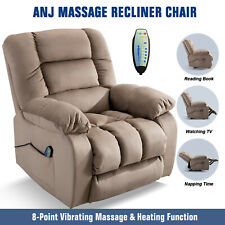 Massage Recliner Chair With Massage Heat & Vibration Lounge Chair W/RC Camel