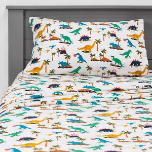 Dinosaur Den Flannel Sheets Pillowfort, Twin