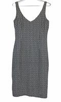 BNWT Citi Womens Black/Cream Sleeveless Lined Dress Size 10