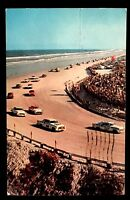 1958 Daytona 500 Racing Daytona Beach Florida Vintage Postcard