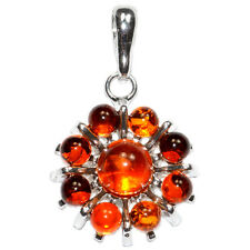 4.5g Authentic Baltic Amber 925 Sterling Silver Pendant Jewelry A1543