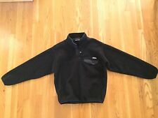 Patagonia Synchilla Snap-T Fleece Pullover - Men's Size Medium M - Black