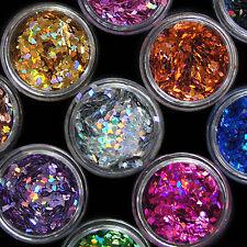 12pcs Nail Art Acrylic 3D Rhombus Glitter Shape Sequins Powder Set Ornate Best