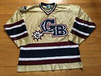 Green Bay Gamblers Hockey Jersey Gold Minor Leagues Gemini USA Men Size Medium