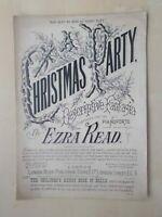 ANTIQUE SHEET MUSIC - CHRISTMAS PARTY - DESCRIPTIVE FANTASIA - FOR PIANO