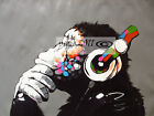 Art Painting Canvas original Street Print DJ Monkey chimp  70cm
