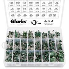 Glarks 24 Value 700pcs 022nf 470nf Polyester Film Capacitor Assortment Kit