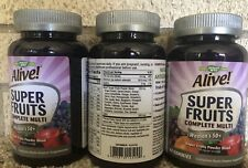 Lot of 3 NATURES WAY ALIVE! WOMEN 50+ SUPER FRUITS MULTI 60 GUMMIES EA EX: 5/21