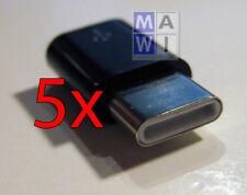 5x Micro USB auf USB C Typ-C Stecker / Adapter / USB 2.0 Typ B auf USB 3.1 Typ C