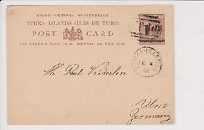 TURKS ISLANDS Postal Card sent to GERMANY in 1901