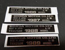 250R CHROME FRAME ID TAG FITS 88 1988 HONDA TRX 250R DECAL STICKER EMBLEM