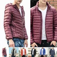 Mens Ultralight Hoody Hooded/Collar 90Down Jacket Winter Warm Puffer Coat