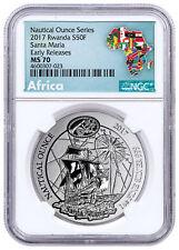 2017 Rwanda Nautical Ounce - Santa Maria 1 oz Silver Coin NGC MS70 ER