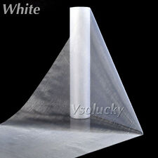 25m Roll of White Crystal Organza Sheer Fabric Wedding Table Runner Chair Bow