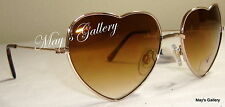 American Eagle AEO Sun Glasses Glass SunGlasses Eyewear Gold Brown Heart NWT AE