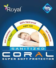 ROYAL 100% Water Proof SUPER SOFT  Protector SINGLE  DOUBLE SIZE 4FEET  CORAL
