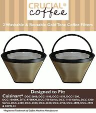 2 REPL Cuisinart GTF-C Cone Coffee Filters Part # DCC-1200 DCC-1150 Large