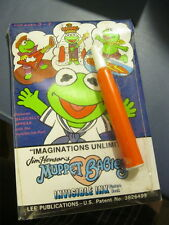 Vintage 1988 Jim Henson MUPPETS & Babies Invisible Ink Magic Pen Picture Book
