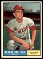 1961 Topps Johnny Callison Philadelphia Phillies #468