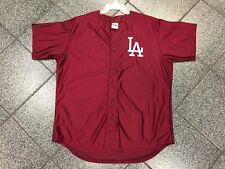 XL NWOT VINTAGE Deadstock MLB Maroon Los Angeles Dodgers Majestic VTG Jersey