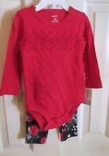 NWT Carter's 2 pc outfit, long sleeve bodysuit/coordinating pants, Sz 12 Mos