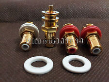 4pcs CMC Gold plated RCA Socket Connector female chassis HIFI AMP