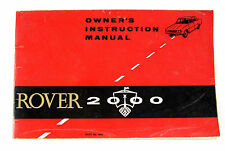 Rover 2000 glove box owners manual 1963/65