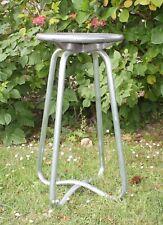 Tabouret de bar en acier chromé type industriel 60 cm