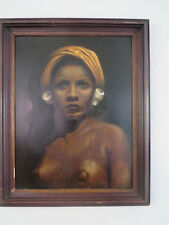 """1933 Exhibition of works by Negro artists """"A Bali Virgin"""" by Archie Joseph Jones"""