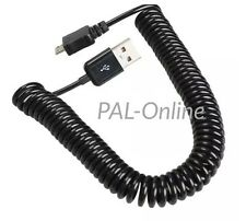 2M Spring Spiral Coiled USB Male A to Micro USB Data Sync Charger Cable