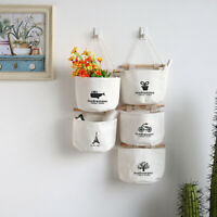 AD_ Vintage Wall Hanging Storage Bag Organizer Toys Container Pocket Pouch Decor