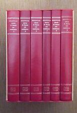 Storia di Roma nel Medioevo by Ferdinand Gregorovius. 6 Volumes. Slipcase