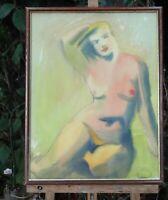 "FLORNOY  - """"  NU ""  aquarelle  1962"
