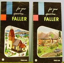 FALLER HO scale ~ 1960's CATALOGUES ~ 3 rare leaflets from 1962/3 and 1963/4