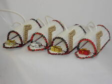 SPECIAL DELIVERY MAILBOX - HANDMADE PLASTIC CANVAS ORNAMENTS - SET OF 4