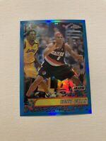 2001-02 Topps Chrome Bonzi Wells Refractor Card #63 with Kobe Bryant  Lakers HOF