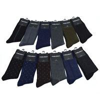 Men's Geometric Dash Dot Business Dress Casual Socks 10 - 13 New