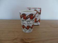 Emma Bridgewater Robin riempito di cera di candela in ceramica Bicchiere Nuovo in Scatola Fuori produzione
