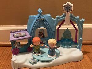 Disney Frozen Fisher Price Little People Arendelle Winter Wonderland, Elsa Anna