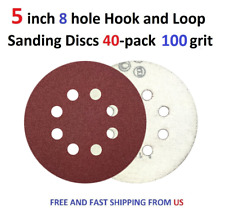40pcs 100 grit 5 inch 8 hole Hook and Loop Sanding Discs
