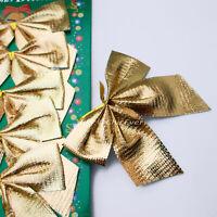 Schleifen gold Weihnachten Weihnachtsschleifen Schleife Christbaum 7,5cm