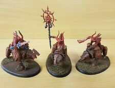Chaos Daemons 3 x Bloodcrushers of Khorne painted plastic models