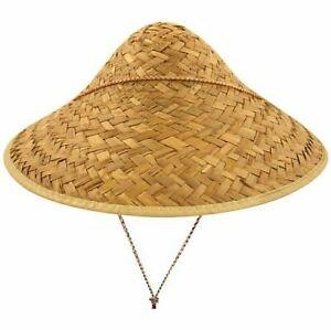 Chinese Traditional Coolie Straw Hat Fancy Dress Celebrate Chinese New Year