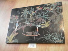 Vintage Chinese wooden panel ~ signed