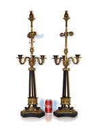 Pair Chapman Lamp Company Brass or Bronze Tuleries Lamps